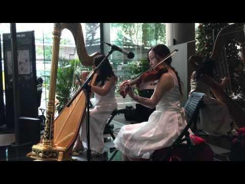 What A Wonderful World - Harp ( Magdalene Wong ) and Violin ( Dong Dong )