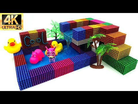 DIY How To Make Beautiful Swimming Pool with 12000 Magnetic Ball and Slime | Magnet Balls 4k