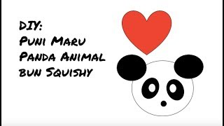 DIY Puni Maru squishy animal bun(LOST FOOTAGE) - panda????
