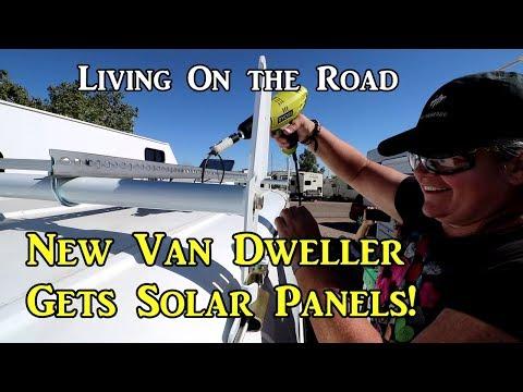 New Van Dweller Gets Solar! - Living On the Road