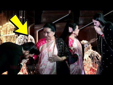 Ranveer And Deepika Shows RESPECT To Asha Bhosle @Priyanka-Nick Wedding Party