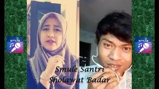 Video Smule Santri Sholawat Badar Merdu bikin hati bergetar download MP3, 3GP, MP4, WEBM, AVI, FLV Juli 2018