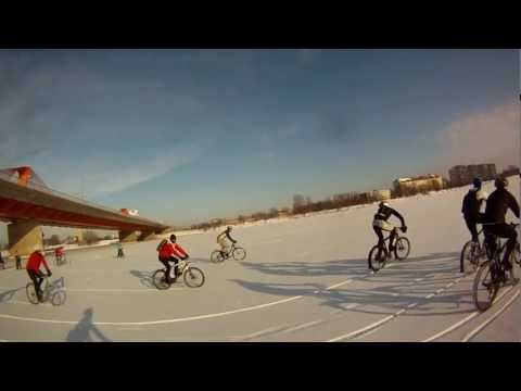 Winter cycling Daugava