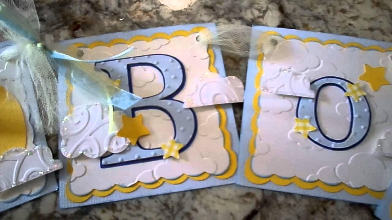 u0026quot its a boy u0026quot  babyshower banner  ribbon  u0026 card