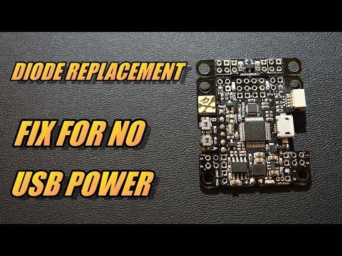 Fix For No USB Power On Flight Controller