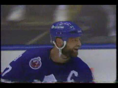 Wendel Clark's hat trick goal to tie game six against the Kings