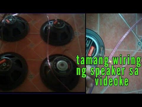 Tamang paglagay ng speaker sa videoke