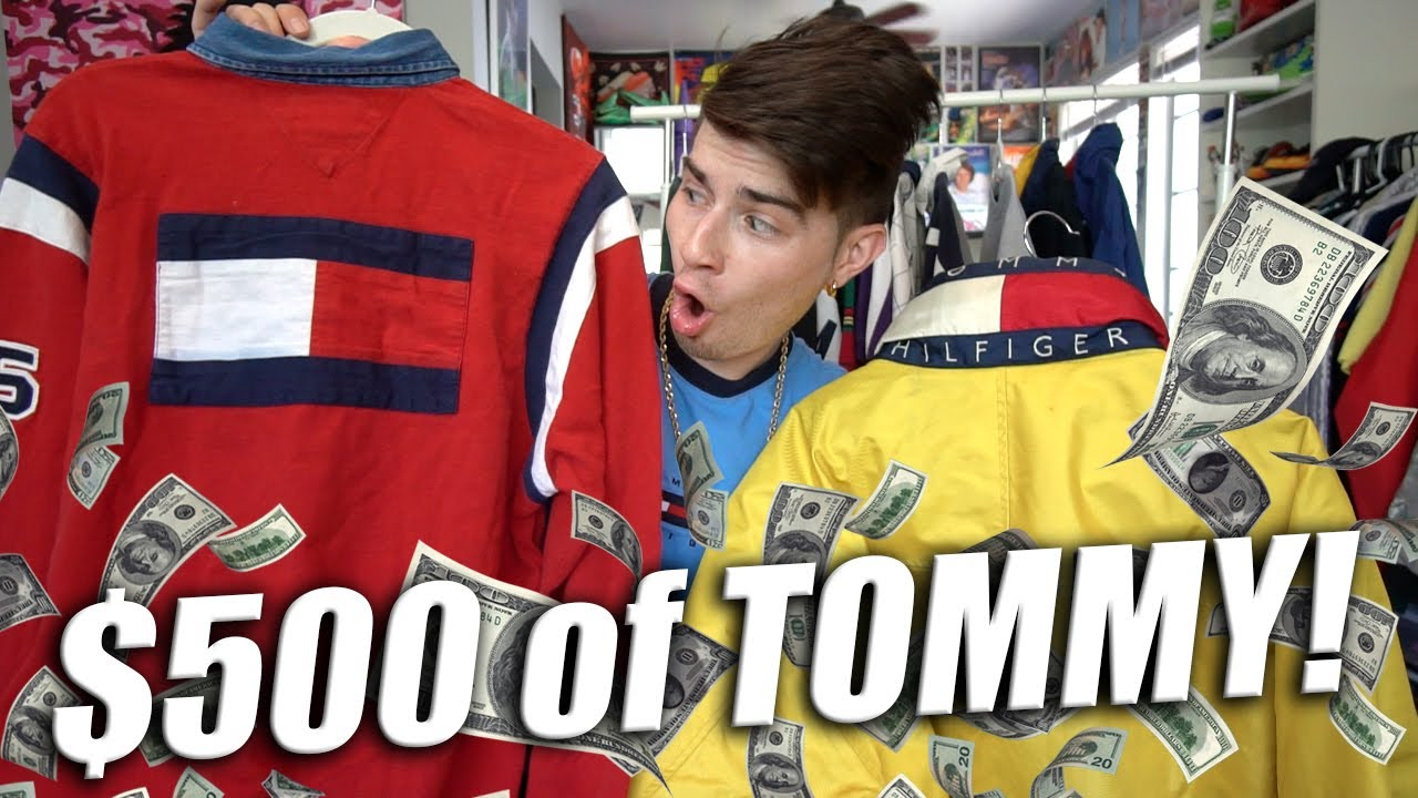01be58dc $500 OF TOMMY HILFIGER THRIFTED FOR $50! HUGE HAUL!! - YouTube