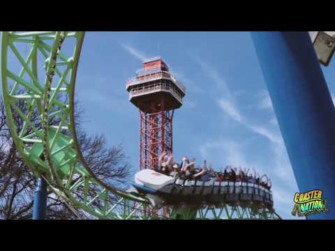 Six Flags Over Texas Galactic Attack On Ride POV - Media Day