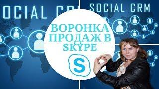 Воронка Продаж В Skype | Social CRM