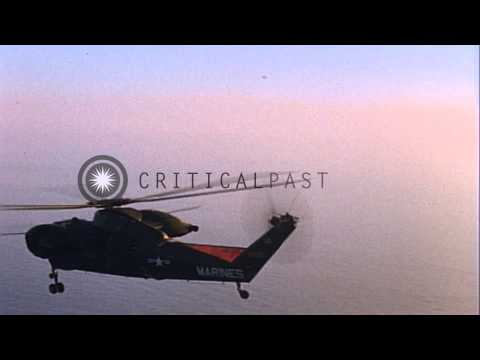 US Navy Landing craft and CH-37 helicopters near California'sSan Clemente Islan...HD Stock Footage