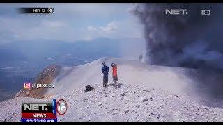 Dua Pemuda Unggah Foto di Gunung Sinabung yang Sedang Erupsi - NET12