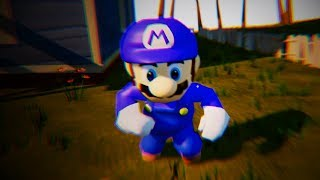 PAINTING MARIO TOAD BLUE - Hello Neighbor