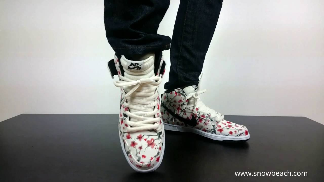 official photos 9b560 8435d ... netherlands nike sb dunk high pro sail black light crimson white cherry  blossom 305050 106 youtube