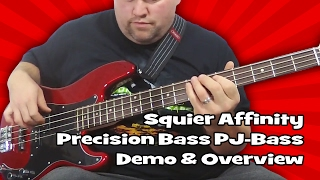 Squier Affinity Precision Bass PJ-Bass Demo & Overview