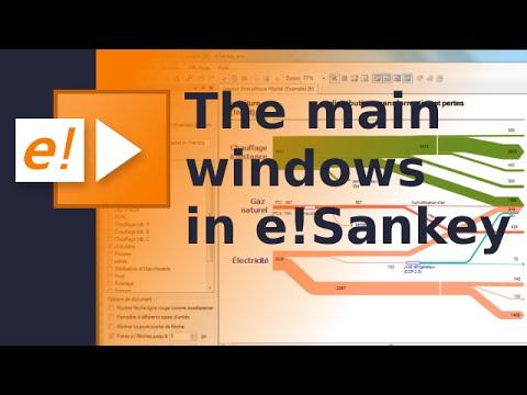 The main windows in e!Sankey - YouTube