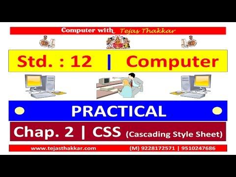 Std. 12 | Chap. 2 CSS (Cascading Style Sheet)