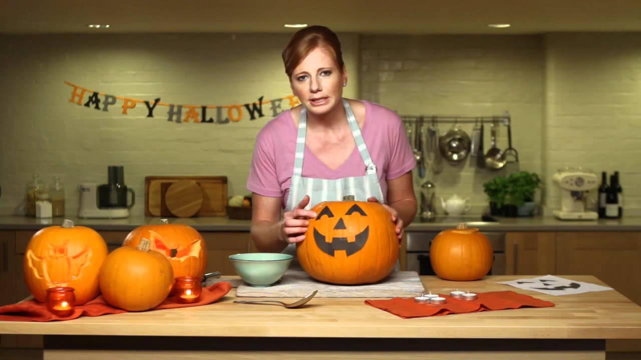 tesco real food- how to carve a pumpkin - youtube