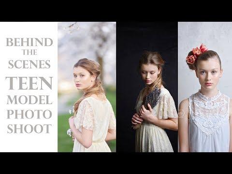 Behind the Scenes - TEEN MODEL photoshoot - FINE ART studio teenager portrait PHOTOGRAPHY