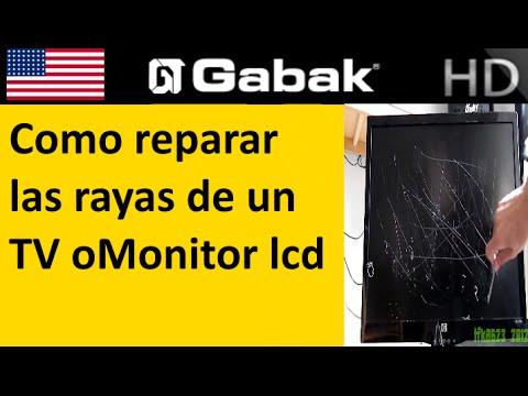 Como reparar las rayas de un TV o Monitor LCD