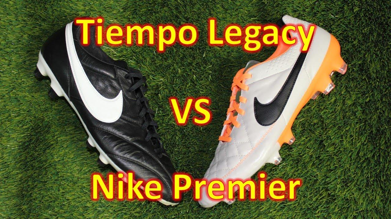 metallo scatola di cartone lontano  Nike Tiempo Legacy VS Nike Premier Comparison + Review - YouTube