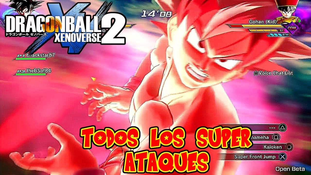 DRAGON BALL XENOVERSE 2 : TODOS LOS SUPER ATAQUES Y ULTIMATE DE LA BETA ! TUTORIAL | RAFYTA