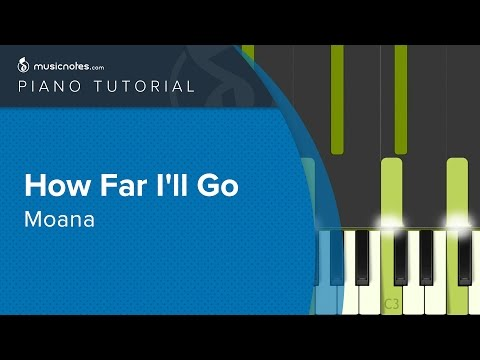 How Far I'll Go - Moana - Piano Tutorial (cover)
