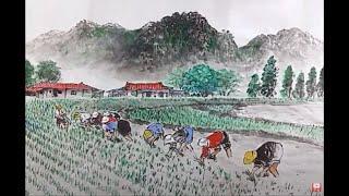 그림 아리랑(Korean Art) 한국화(풍경화)그리기…
