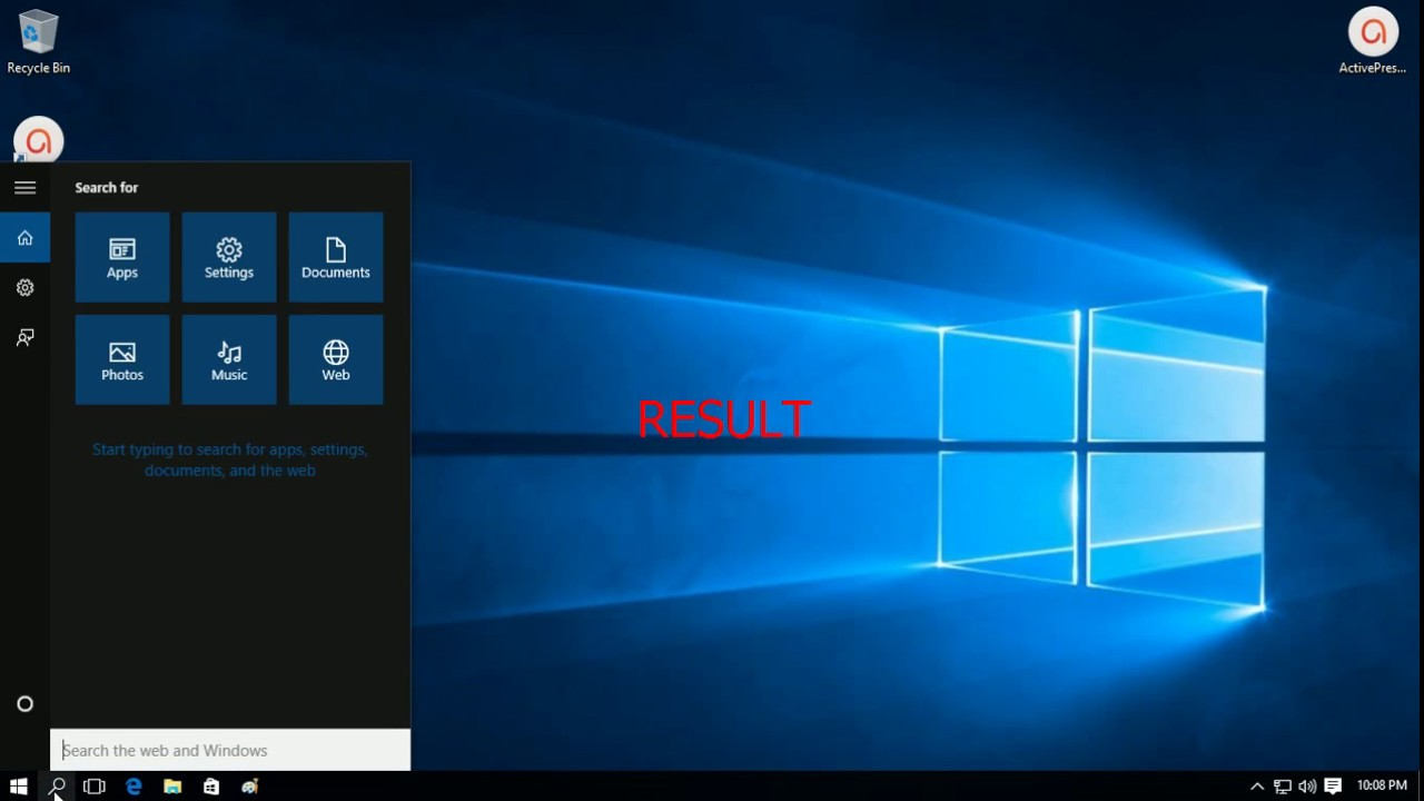 Change Search Bar Cortana To Small Icon Windows 10