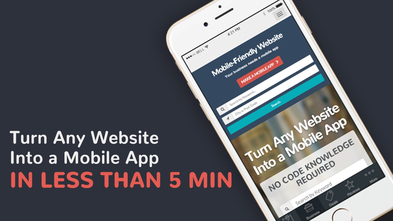 convert my website to mobile version free