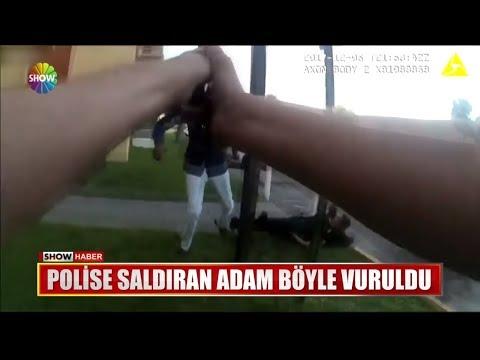 Polise Saldıran Adam Böyle Vuruldu