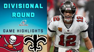 Buccaneers vs. Saints Divisional Round Highlights | NFL 2020 Playoffs