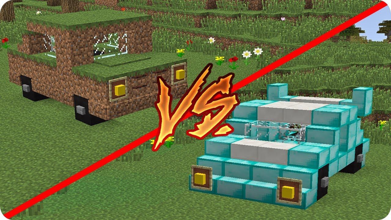 Coche De 1 Vs Coche De 1 000 000 En Minecraft Youtube