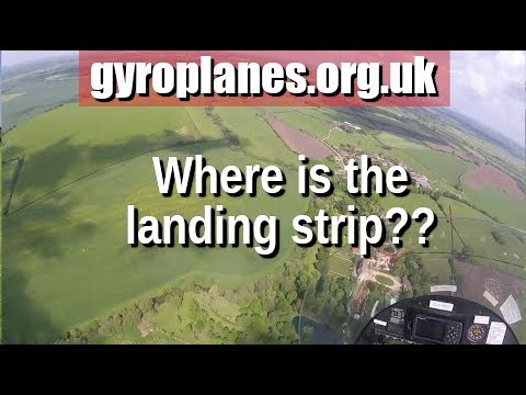 gyrocopter/gyroplane landing: the invisible airstrip