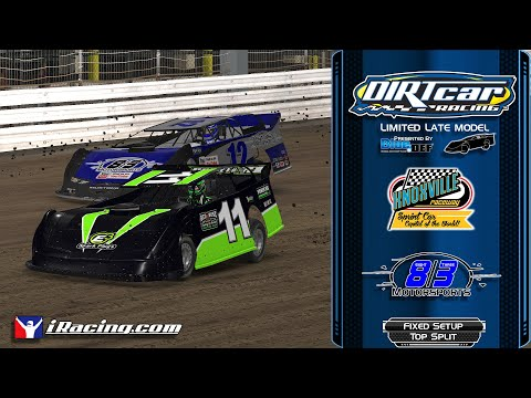 DirtCar iRacing Limited Late Model Knoxville Raceway 5/9/2020 Top Split A poor qualifying performance maybe saved my race... - dirt track racing video image