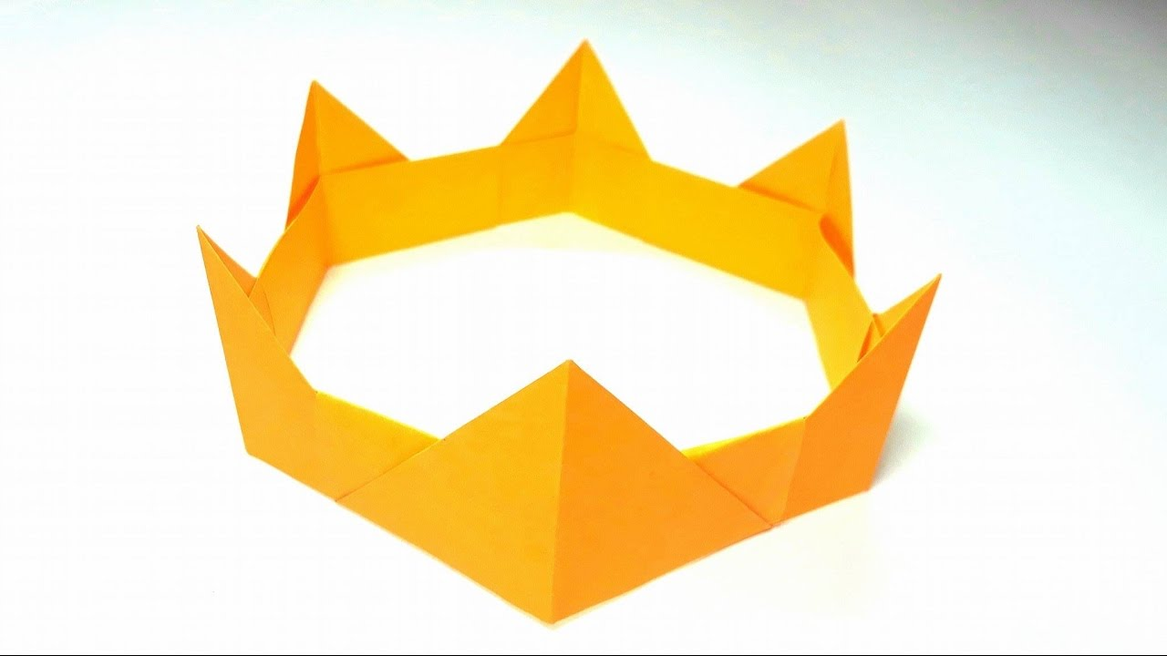Origami Tutorial How To Fold An Easy Paper Origami Crown Youtube
