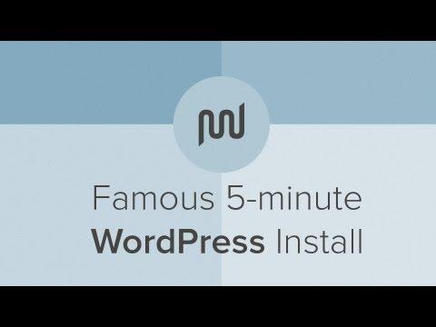 Famous five minute wordpress installation process