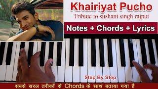 Khairiyat Pucho | Chhichhore | Keyboard/Piano Tutorial with Chords