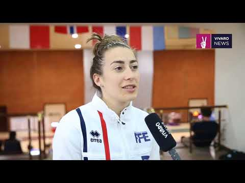 Fencing European Championship U23 Armenia. Maeva Rancurel (France) interview