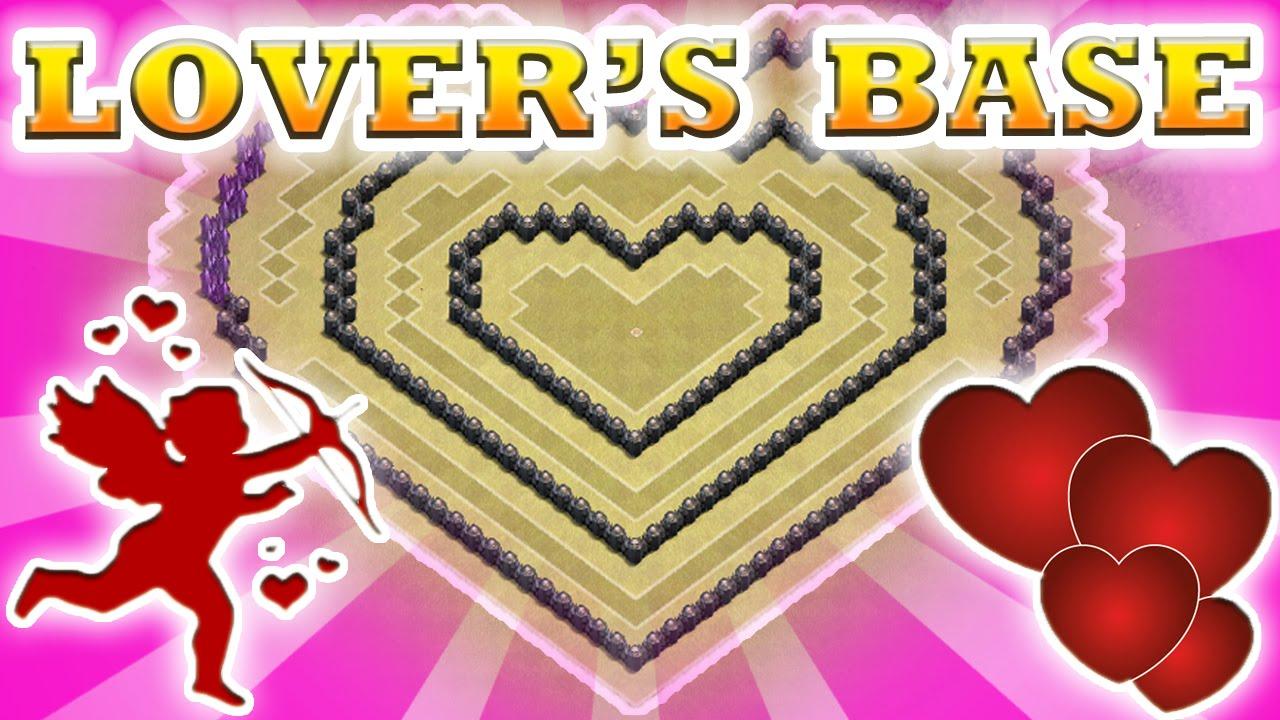 Base Coc Th 8 Bentuk Love 10