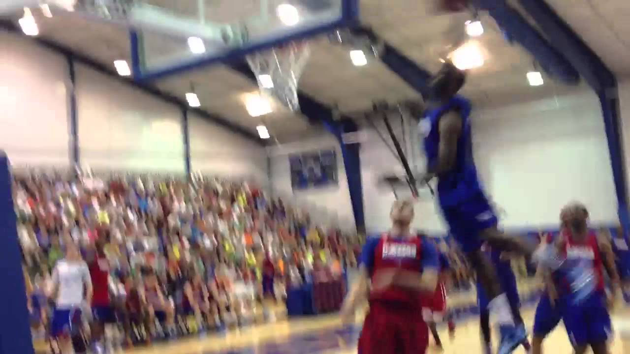 Andrew Wiggins skies for dunk in KU summer scrimmage