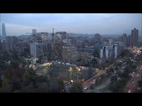 Night falls in Santiago Chile (Time lapse)