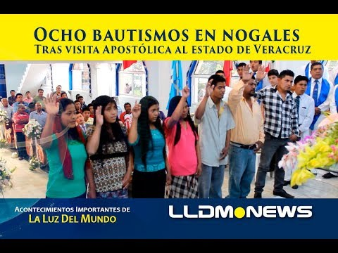 Ocho bautismos en Nogales, tras visita apostólica a Veracruz.