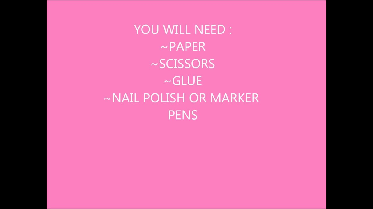 How To Make Fake Nails Out Of Paper