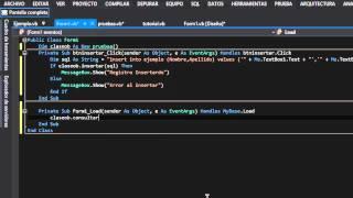 Crea una clase para Insertar, Consultar, Eliminar y Actualizar Datos con Visual Basic y SQL Server 2