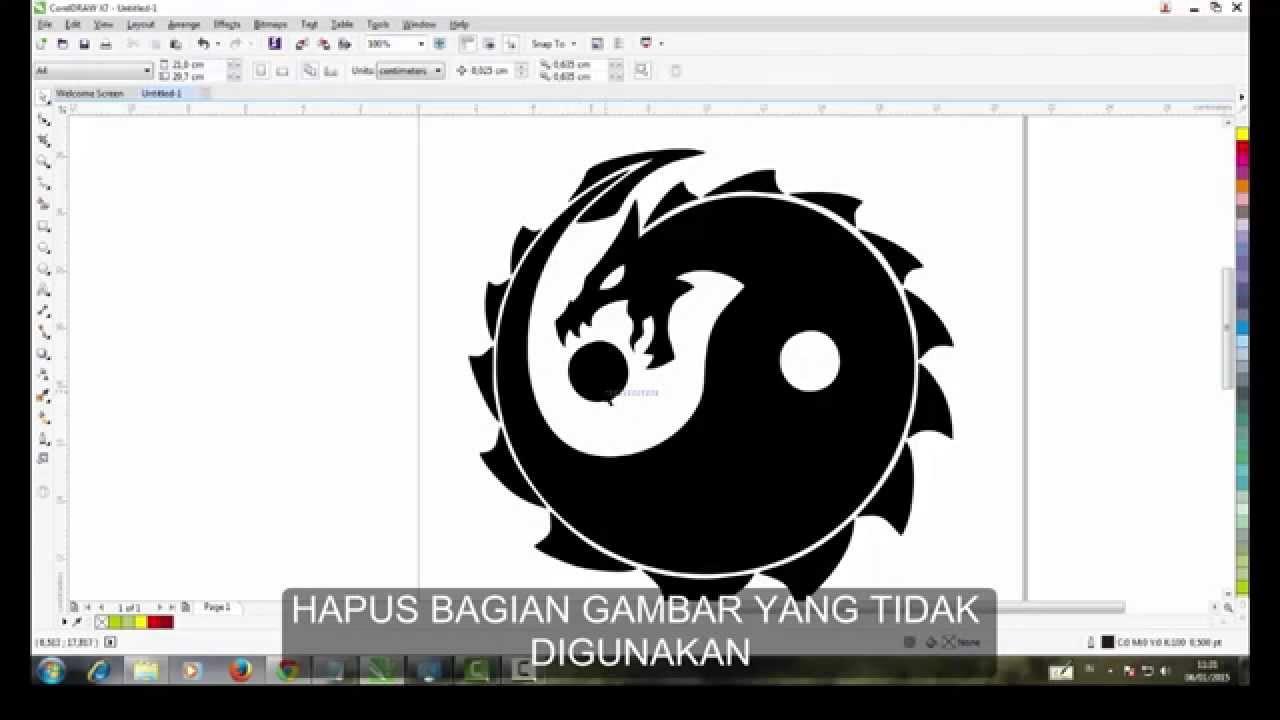 cara membuat logo di corel draw x7