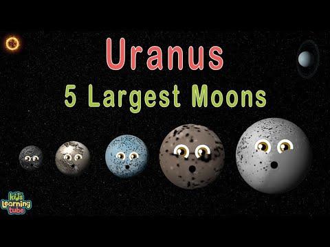Planet Uranus 5 Largest Moons
