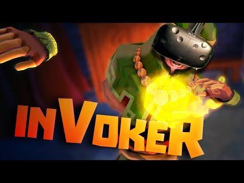 2 PLAYER WIZARD BATTLES IN VR - InVokeR Gameplay - HTC Vive VR Gameplay
