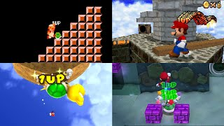 Evolution of the Infinite Lives Trick in Mario games
