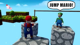 SUPER MARIO AND LUIGI DOING INSANE PARKOUR in HUMAN FALL FLAT